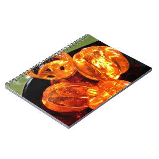 Luces lindas de la calabaza del LED Cuaderno