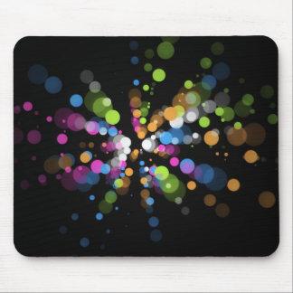 Luces multicoloras del círculo en el Ratón-cojín Mouse Pad