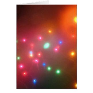 Luces nebulosas tarjeta de felicitación