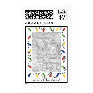 Luces personalizadas del Sello-Navidad del Timbre Postal