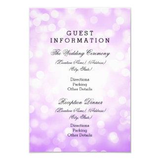 """Luces púrpuras del brillo de la información de la invitación 3.5"""" x 5"""""""