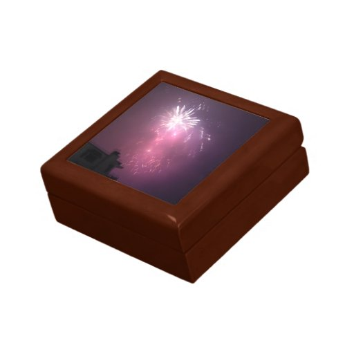 Luces púrpuras en el cielo cajas de recuerdo