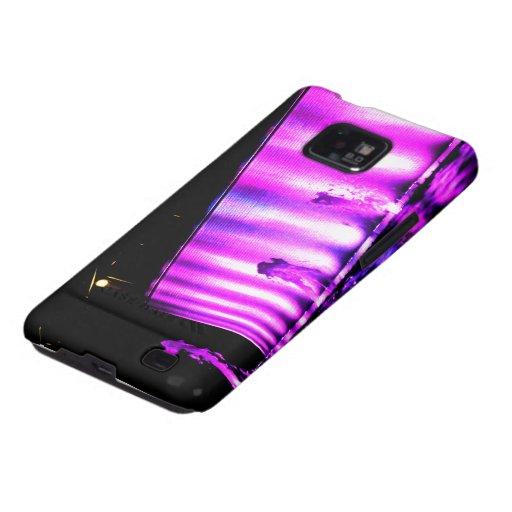 Luces púrpuras samsung galaxy s2 funda