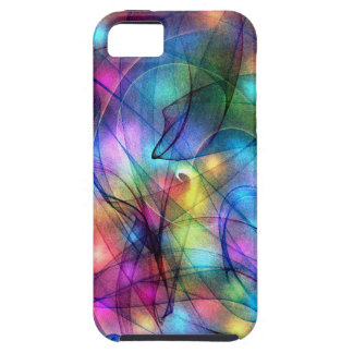 luces que brillan intensamente del arco iris iPhone 5 Case-Mate carcasa