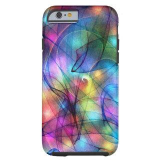 luces que brillan intensamente del arco iris funda de iPhone 6 tough