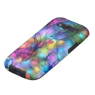 luces que brillan intensamente del arco iris galaxy SIII cárcasa