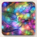 luces que brillan intensamente del arco iris posavaso