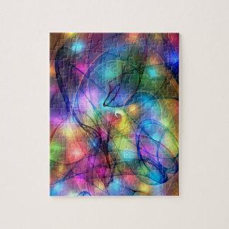 luces que brillan intensamente del arco iris puzzles