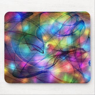 luces que brillan intensamente del arco iris tapete de raton