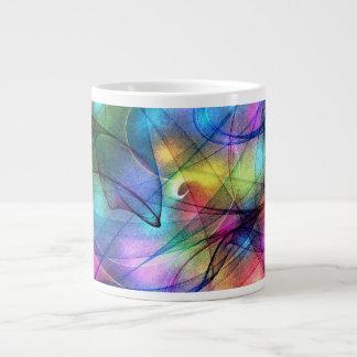 luces que brillan intensamente del arco iris taza jumbo