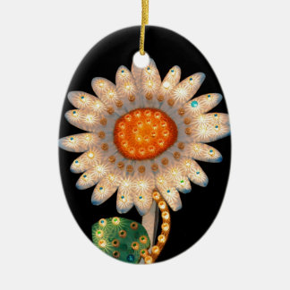 luces que destellan de la flor de la margarita adorno para reyes