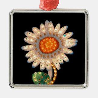 luces que destellan de la flor de la margarita ornamentos de reyes