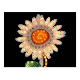 luces que destellan de la flor de la margarita tarjeta postal