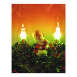 """Luces retras de Santa y de la burbuja Folleto 8.5"""" X 11"""""""