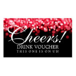 Luces rojas del vale elegante de la bebida tarjeta de negocio