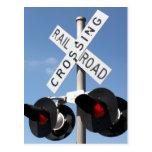 Luces rojas - muestra de la travesía de ferrocarri