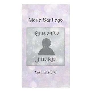 Luces rosadas conmemorativas de la tarjeta el | tarjetas de visita