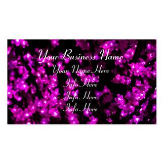 Luces rosadas de la flor que brillan intensamente tarjetas de visita