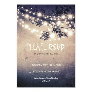 """Luces rústicas que casan las tarjetas de RSVP Invitación 3.5"""" X 5"""""""