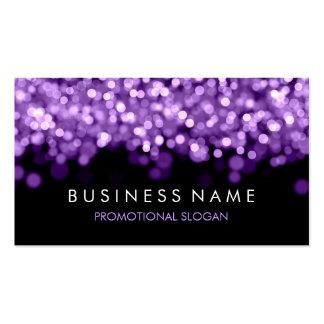 Luces simples de la púrpura de la chispa tarjeta de visita