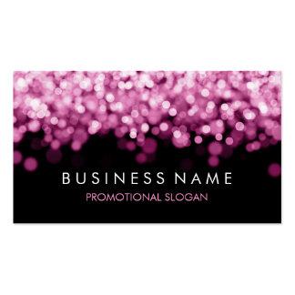 Luces simples del rosa de la chispa tarjeta de negocio