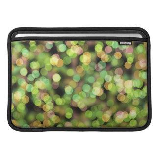 Luces verdes abstractas fundas para macbook air