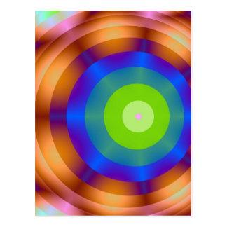 Luces verdes del círculo de la blanco postal