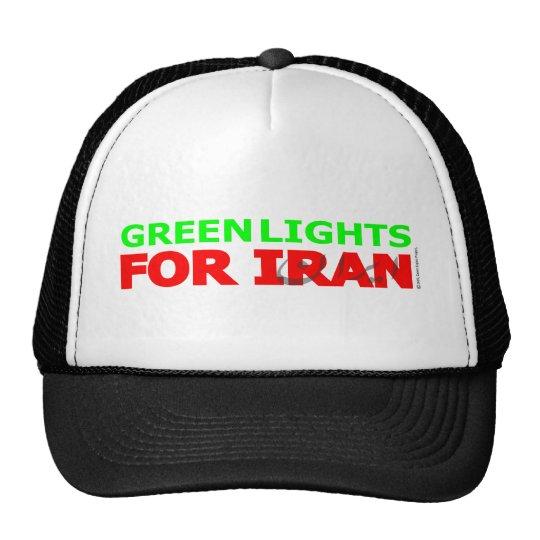 Luces verdes para Irán Gorros