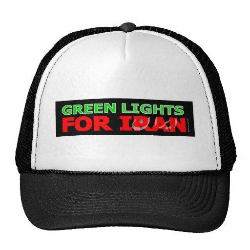 Luces verdes para Irán Gorros Bordados
