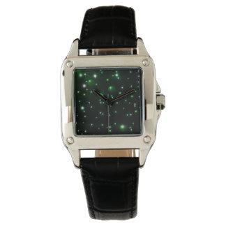 luces verdes relojes de pulsera