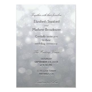 Luces y brillo de plata invitación 12,7 x 17,8 cm