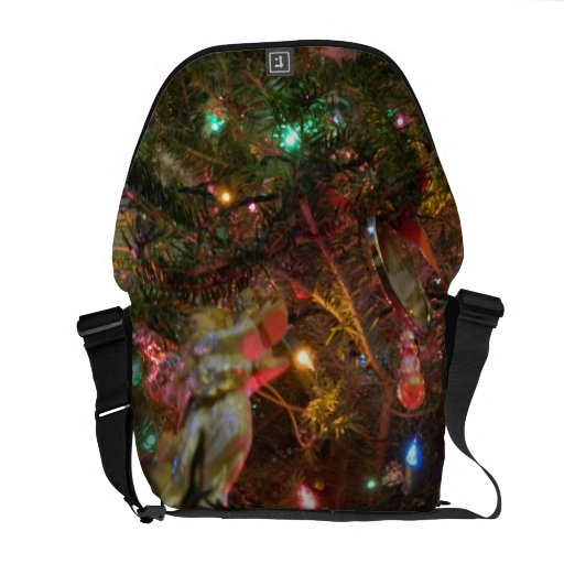 Luces y ornamentos de navidad bolsa de mensajería