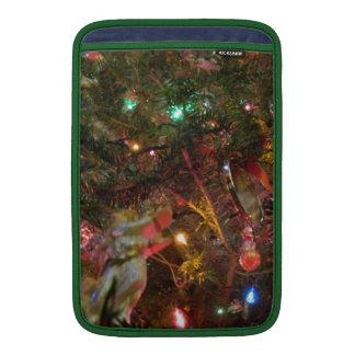 Luces y ornamentos de navidad funda macbook air