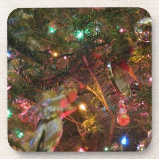 Luces y ornamentos de navidad posavasos