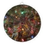 Luces y ornamentos de navidad tabla dardos