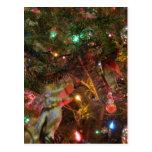 Luces y ornamentos de navidad tarjetas postales
