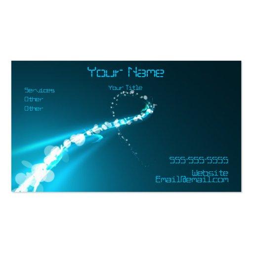 Luces y tarjeta de visita abstractas de los colore