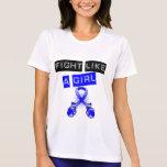 Lucha anal del cáncer como un chica camiseta