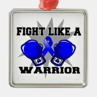 Lucha anal del cáncer como un guerrero ornamentos de reyes magos