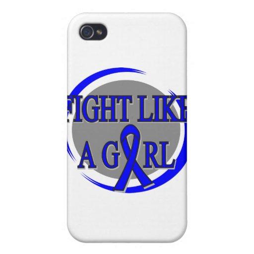 Lucha anal del cáncer como una circular del chica iPhone 4/4S carcasas