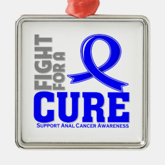 Lucha anal del cáncer para una curación ornamentos de navidad