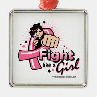 Lucha animada como un cáncer de pecho del chica adorno