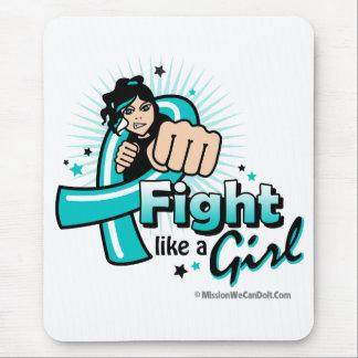 Lucha animada como un chica PKD Mousepads