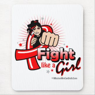 Lucha animada como un SIDA del chica Alfombrillas De Raton
