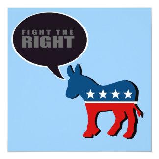 """Lucha Anti-Republicana la derecha Invitación 5.25"""" X 5.25"""""""