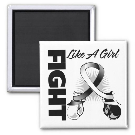 Lucha blanco y negro de la cinta como un chica imanes de nevera