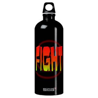 lucha botella de agua