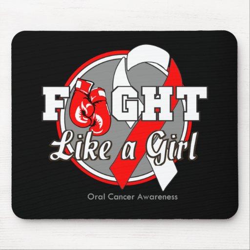 Lucha como guantes de un chica - cáncer oral tapetes de ratones