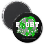 Lucha como guantes de un chica - cáncer (verde) de imán