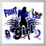 Lucha como un ALS 35,8 del chica Posters